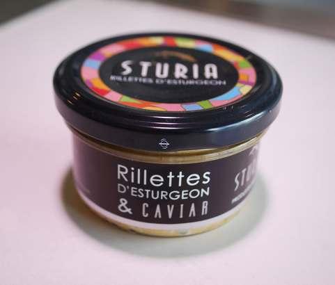 Rillettes esturgeon au caviar
