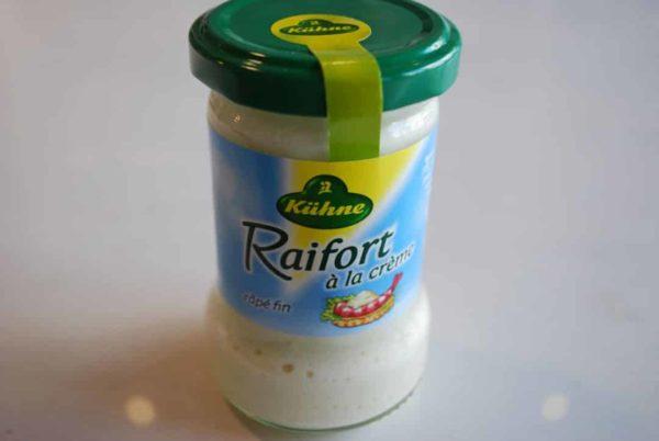 crème au raifort