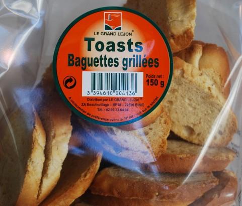 Toasts baguette grillée